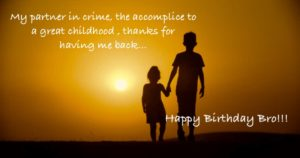 Happy Birthday to Younger Brother