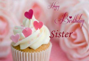 WHITE CREAM CAKES ON SISTER'S HAPPY BIRTHDAY