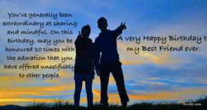 A very happy birthday to my best friend ever