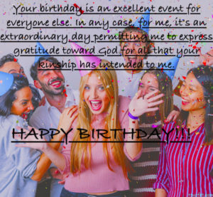 Birthday Celebrating Friends