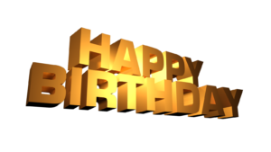 GOLDEN HAPPY BIRTHDAY PNG IMAGES