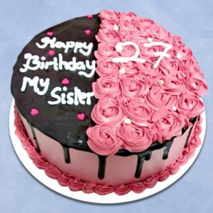 PINK AND BROWN CAKES ESPECIAL TO SISTER
