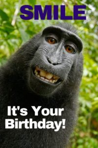 smile monkey friend