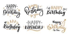 Happy Birthday in Calligraphic