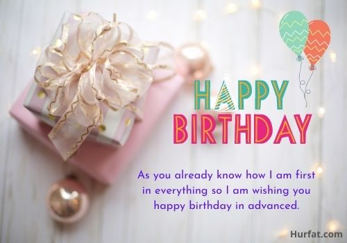 Advance happy birthday wishes for wife
