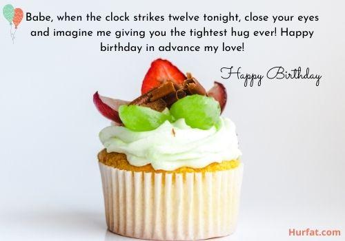 Advance happy birthday wishes for Boyfriend