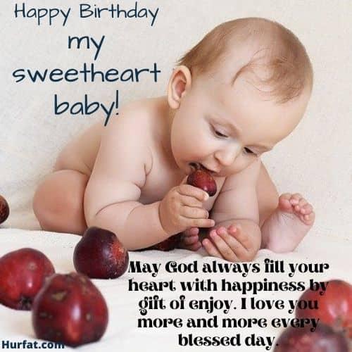 Happy Birthday my Sweetheart Baby!