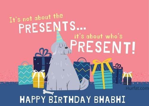Happy Birthday Bhabhi Greeting Card Idea