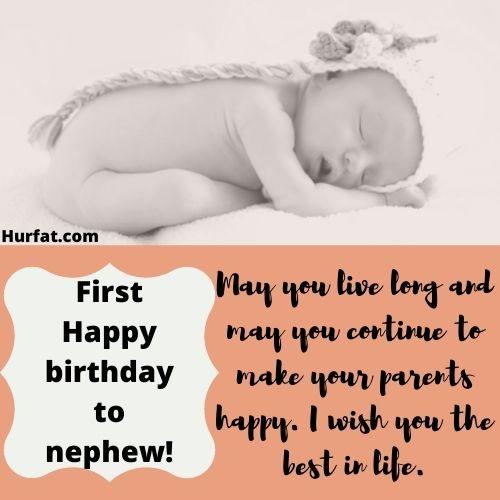 First Happy birthday to my nephew!