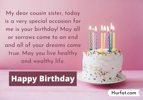 Happy Birthday Cousin Female