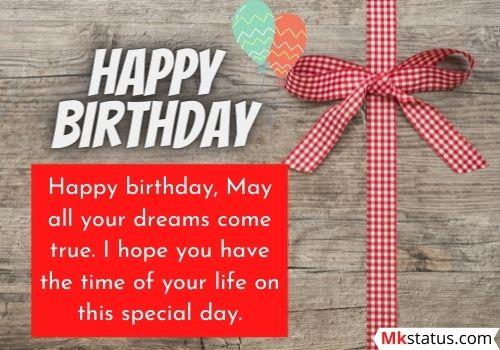 Impressive birthday wishes for female friend