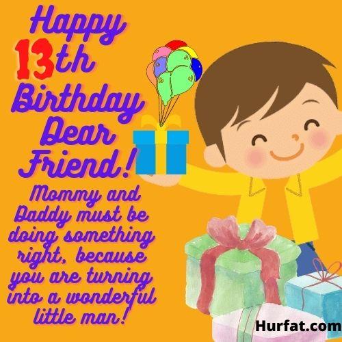 Happy 13th Birthday dear Friend Image