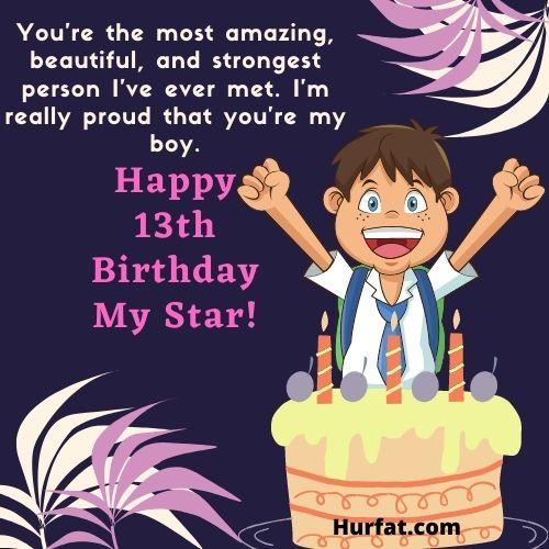 Happy 13th birthday boy image