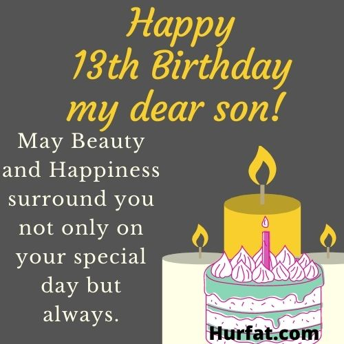 Happy 13th birthday son image