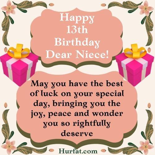 Happy 13th Birthday dear Niece Image