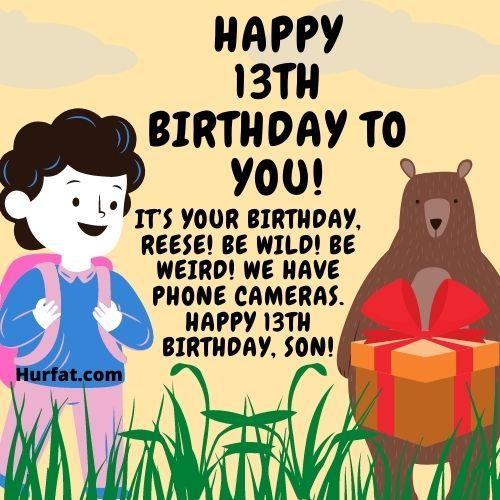 Happy 13th Birthday funny Image