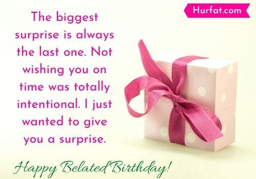 Happy Belated Birthday Quotes
