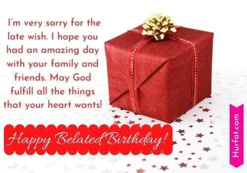 Happy belated birthday prayer