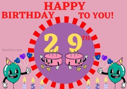 Funny Happy 29th Birthday