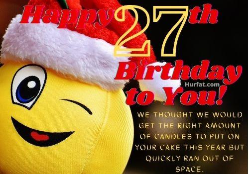 Funny Happy 27th Birthday